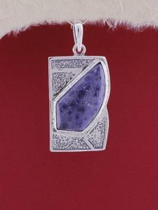 Сребърен медальон PK156 - Дюмортиерит