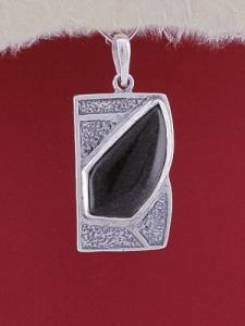 Сребърен медальон PK156 - Оникс