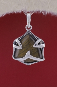 Сребърен медальон PK158 - Тигрово око