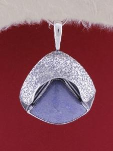 Сребърен медальон PWS5 - Син кварц