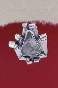 Сребърен медальон PWS6 - Рутилов кварц