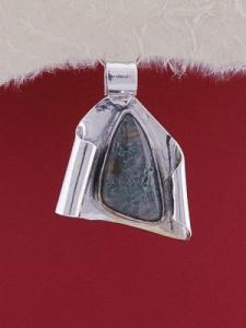 Сребърен медальон PWS7 - Мъхов ахат