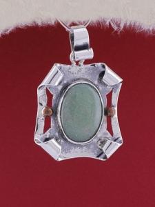 Сребърен медальон PWS9 - Авантюрин
