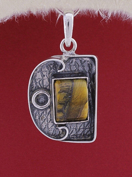 Сребърен медальон PWS10 - Тигрово око