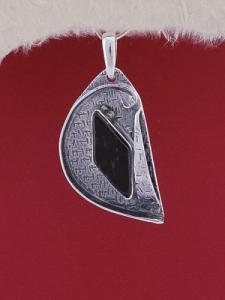 Сребърен медальон PWS11 - Оникс