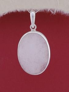 Сребърен медальон PWS15 - Млечен кварц
