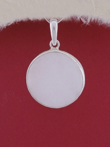 Сребърен медальон PWS16 - Млечен кварц