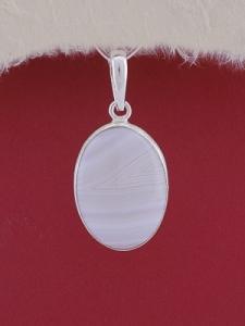 Сребърен медальон PWS17 - Ивичест ахат