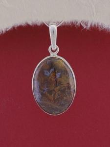 Сребърен медальон PWS17- Мъхов ахат