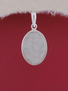 Сребърен медальон PWS17 - Бял авантюрин