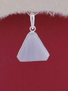 Сребърен медальон PWS18 - Ивичест ахат