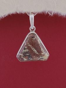 Сребърен медальон PWS18 - Брекча яспис