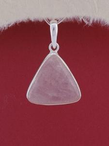 Сребърен медальон PWS19 - Розов кварц