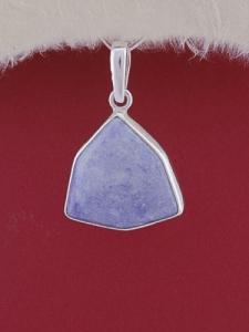 Сребърен медальон PWS20 - Син кварц
