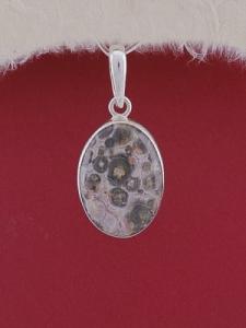 Сребърен медальон PWS22 - Леопардов яспис