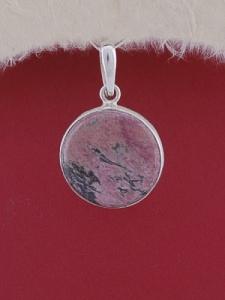 Сребърен медальон PWS23 - Родонит