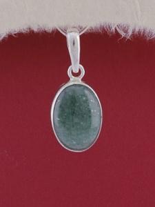 Сребърен медальон PWS24 - Авантюрин