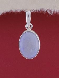 Сребърен медальон PWS24 - Син кварц