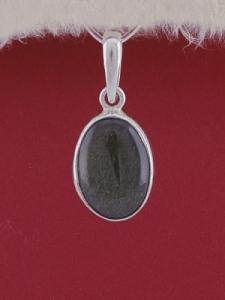 Сребърен медальон PWS24 - Златист обсидиан