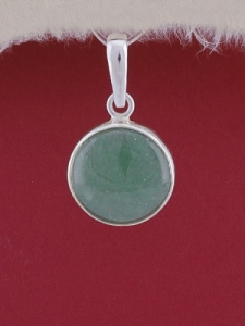 Сребърен медальон PWS25 - Авантюрин