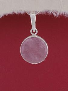 Сребърен медальон PWS25 - Розов кварц