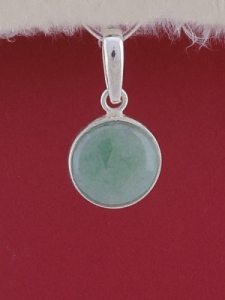 Сребърен медальон PWS28 - Авантюрин