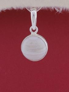 Сребърен медальон PWS28 - Ивичест ахат