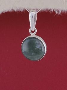 Сребърен медальон PWS28 - Мъхов ахат