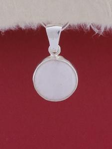 Сребърен медальон PWS28 - Млечен кварц
