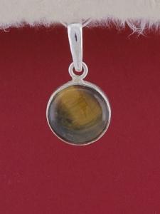 Сребърен медальон PWS28 - Тигрово око