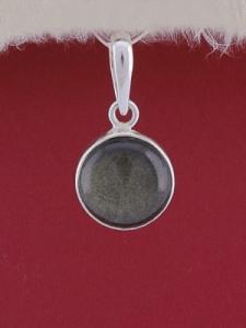 Сребърен медальон PWS28 - Златист обсидиан