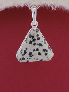 Сребърен медальон PWS18 - Далматин яспис