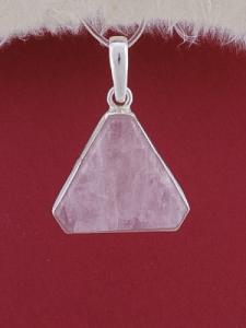 Сребърен медальон PWS18 - Розов кварц
