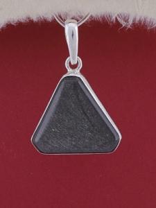 Сребърен медальон PWS18 - Сребрист обсидиан