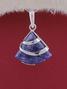 Сребърен медальон PK130 - Дюмортиерит