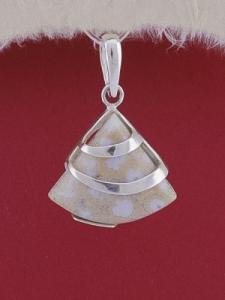 Сребърен медальон PK130 - Коралитов ахат