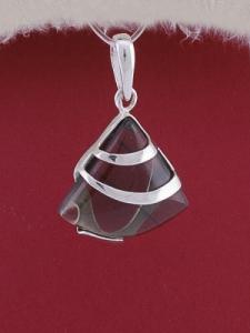 Сребърен медальон PK130 - Опушен кварц
