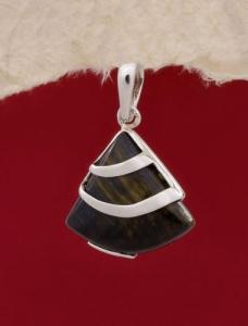 Сребърен медальон PK130 - Тигрово око