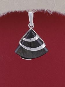 Сребърен медальон PK130 Златист обсидиан