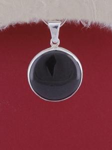 Сребърен медальон PWS23 - Оникс