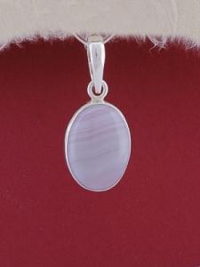 Сребърен медальон PWS24 - Ивичест ахат