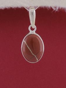Сребърен медальон PWS27 - Червен яспис