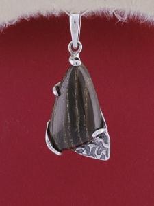Сребърен медальон PK92-Ахатизирано дърво