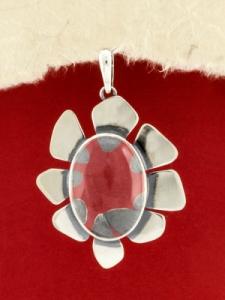 Сребърен медальон - PKWS96- ПЛАНИНСКИ КРИСТАЛ
