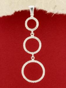 Сребърен медальон - PK347