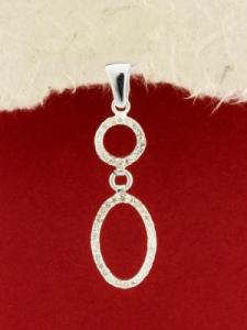 Сребърен медальон - PK348