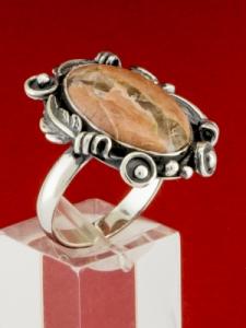 Сребърен пръстен - RKWS70 - БРЕКЧА ЯСПИС
