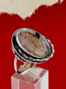 Сребърен пръстен - RKWS98 - МАЛИНОВ АХАТ