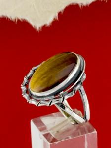 Сребърен пръстен - RKWS98 - ТИГРОВО ОКО
