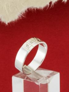 Сребърен пръстен с цирконии - R146